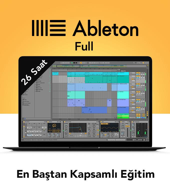 Ableton Lıve ile Kapsamlı Müzik Prodüksiyon eğitimi (26 Saat)